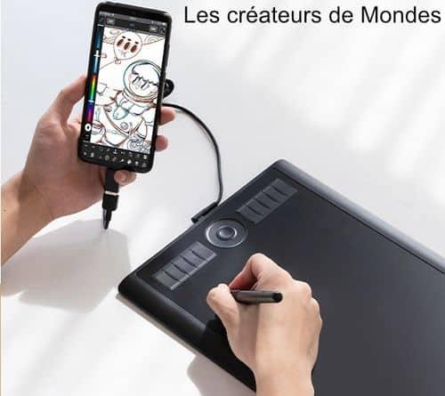 Le magazine des Créateurs de Mondes Tablettes graphiques : Guide d'achat et comparatif 2021 Gaomon M10Kpro cintiq   dessiner   écrire