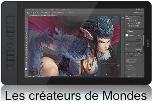 Le magazine des Créateurs de Mondes Tablettes graphiques : Guide d'achat et comparatif 2021 Gaomon PD1560 cintiq   dessiner   écrire