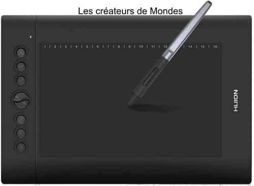 Le magazine des Créateurs de Mondes Tablettes graphiques : Guide d'achat et comparatif 2021 Huion H610 pro v2 cintiq   dessiner   écrire