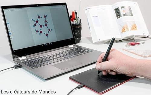 Le magazine des Créateurs de Mondes Tablettes graphiques : Guide d'achat et comparatif 2021 One by Wacom cintiq   dessiner   écrire