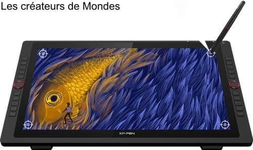 Le magazine des Créateurs de Mondes Tablettes graphiques : Guide d'achat et comparatif 2021 XP PEN Artist 22R Pro cintiq   dessiner   écrire