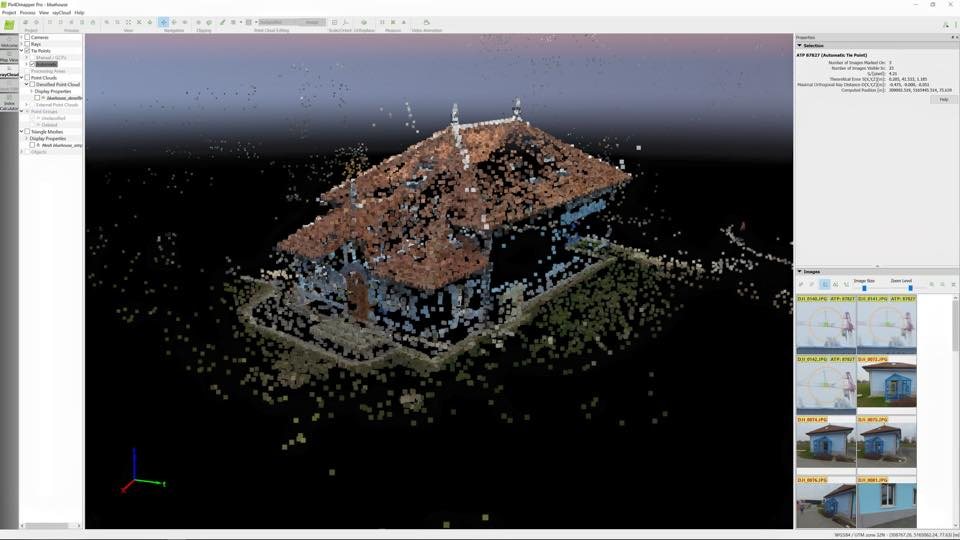 Pix4D mapper - cloud of points view
