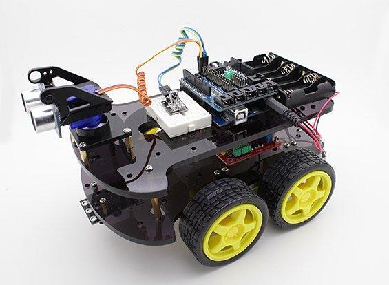 4WD-Ultrasonic-Robot-Kit