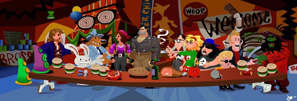 La famille des personnages de lucasarts réunie le temps d'une photo